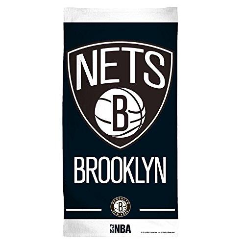 NBA Brooklyn Nets Fiber Beach Towel, 30 x 60'', Multicolor by PSG INC