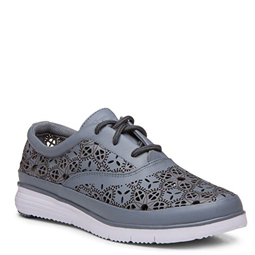 Propet Womens Harper Leather, Eva Fashion Sneakers Denim