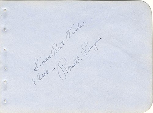 President Ronald Reagan Autograph Note Signed Circa 1938