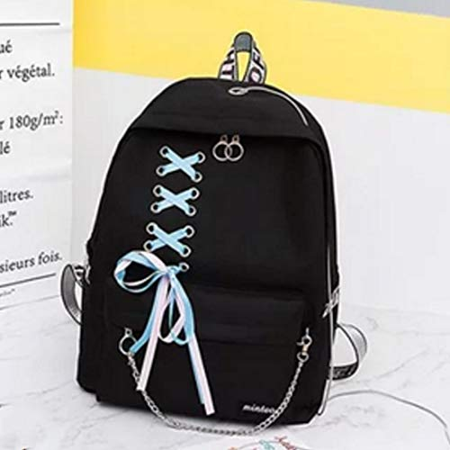Dos High Banlieue À Black Zackback La Student Waveni Gray Daypack Capacité Sac Mode Grande Chaîne School Ruban color EnfvTqT