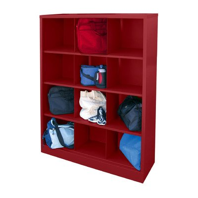 (Sandusky Lee IC00461866-01 Heavy Duty Welded All Steel Cubby Storage Cabinet with 12 Sections, 46