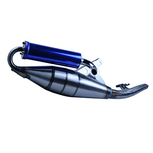 FLYPIG Performance Exhaust Muffler Pipe for Yamaha Breeze Jog 50 50cc 2 Stroke Scooter Moped Engine 1E40QMB 1PE40QMB