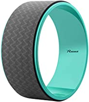 """Reehut Yoga Wheel - 12.6"""" x 5"""" Strong Premium Back Roller, Yoga Accessory Back Wheel with Thick Cushion for St"""