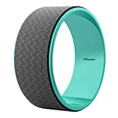 Benefits of Using Reehut Yoga Wheel: Perform advanced backbends and handstands. Strengthen your core, toning your body.? Stretch and open your back, chest, shoulders, abdomen and hip flexors. Improve balance and spine alignment. Deepening str...