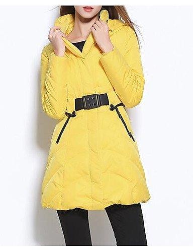 tinta relleno ShangYi Manga sin Standard otro de unita ciudad amp; moda mujer para polipropileno Abrigo TT amarillo USCIRE FPqwta55x