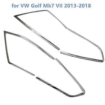 HIGH FLYING Cubierta trasera de plástico ABS cromado para faros traseros de 5 puertas, accesorio para Golf 7 2013-2018: Amazon.es: Coche y moto