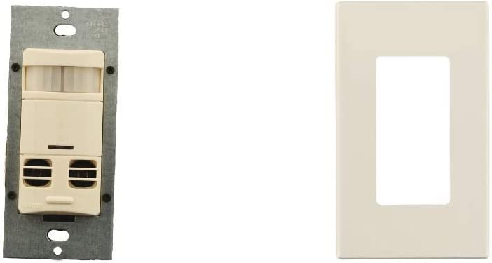 Multi-Technology Wall Switch Sensor Light Almond with Screwless Wallplates 2400 sq 6-Pack Minor Motion Coverage ft No Neutral ft Major /& 400 sq Leviton OSSMT-GDT Ultrasonic//Infrared