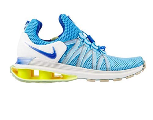 NIKE Women's Shox Gravity Shoes (7.5, Blue/White) (Shoe Shox Sneaker)