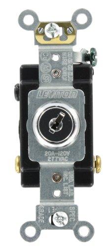 Leviton 1223-2KL 20-Amp, 120/277-Volt, Key Locking, 3-Way AC Quiet Switch, Extra Heavy Duty Grade, Chrome