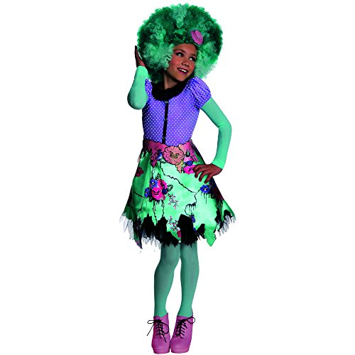 Girl Swamp Monster Costume (Rubies Monster High Frights Camera Action Honey Swamp Costume, Child Large)
