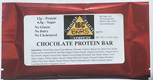 IBC Chocolate Protein Bar, (Case of 12 Bars) -- ALWAYS 10...