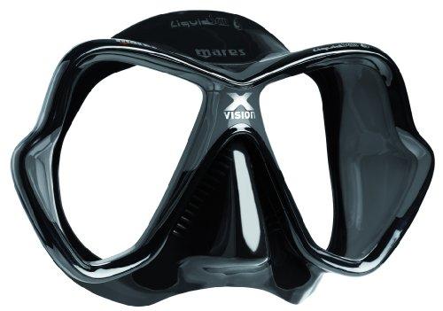 Mares X-Vision Liquidskin 13 Scuba and Snorkeling Mask (Black/Black)