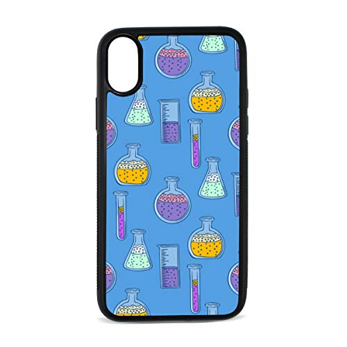 (iPhone Chemical Experiment Tool Design Hand Drawn Art Design Digital Print TPU Pc Pearl Plate Cover Phone Hard Case Cell Phone Accessories Compatible with Protective Apple Iphonex/xs Case 5.8 Inch)