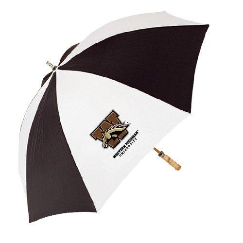 Western Michigan 62 Inch Black/White Umbrella 'Official Logo' by CollegeFanGear