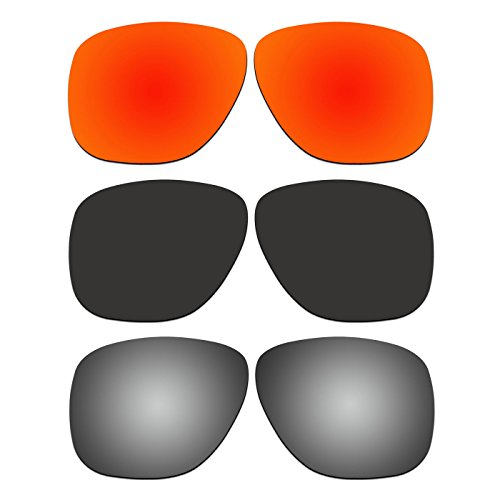 3 Pair ACOMPATIBLE Replacement Polarized Lenses for Oakley Crossrange XL Sunglasses OO9360 Pack - Replacement Crossrange Oakley Lenses