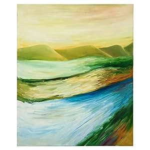 GrandUAE Canvas Multi Color Painting - Landscape