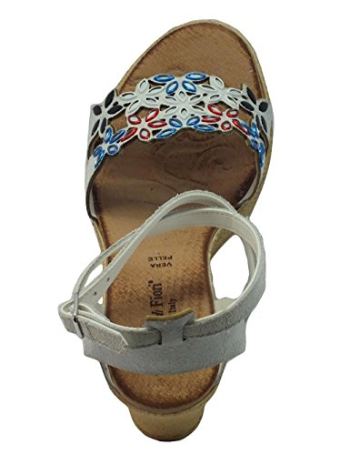 Mercante di Fiori Ima 45988 Camoscio Bianco - Sandalias de vestir de Piel para mujer Bianco