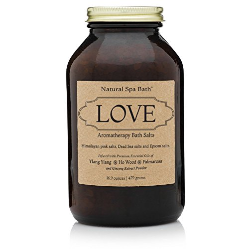 Love Bath Salt Gift Set - Aromatherapy Romantic Blend with Ylang Ylang, Ho Wood, and Palmarosa Essential Oils (Valentines Bath Salts compare prices)