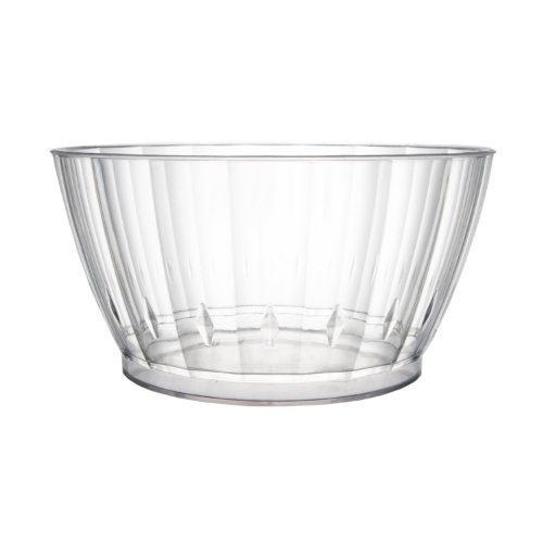 (Party Essentials Elegance/Deluxe Plastic Bowl, 6-Ounce Capacity, Clear (Case of 240))