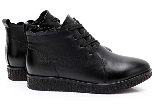 Casual Planas Piel Cálido Algodón Suaves Primera Black Zapatos Para Antideslizantes Vaca Mujeres Inferiores De Capa Shiney Botas Otoño Invierno ZqxnvpSBA