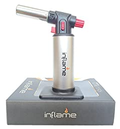 Inflame Butane Culinary Kitchen Torch with Creme Brulee Recipe