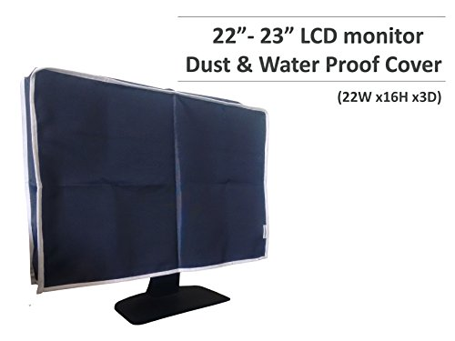 (Dorado Dust Proof Water Proof Washable Computer Monitor Cover for LCD, LED, Flat Panel and Screens for 22