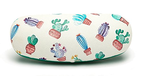 Eyeglasses Clamshell Hard Case Cactus Printed Cute Protective Holder 5 ()