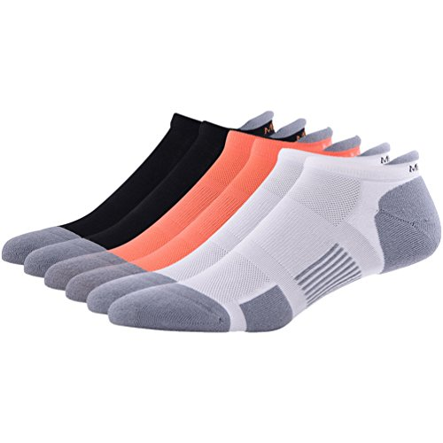Low Cut Jogging Socks for Men Women MEIKAN Cool Running Trail Breathable Athletic No Show Socks for Free Rn Flyknit Shoe 1 Pair (Black)