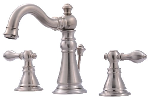 Ultra UF55113 Two-Handle Brushed Nickel Lavatory Faucet with Pop-Up Drain,