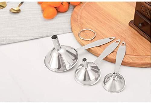 ANR 3 Stück Multifunktionaler Edelstahltrichter Essentailöl Wassergewürze Weinflaschenfiltertrichter für die Küche zu Hause (Silber)