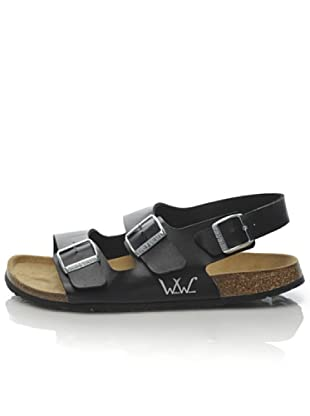 World Walker by Birkenstock Sandalo Funk (Nero) fbd5aa7d0b6