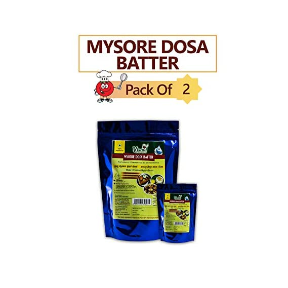 Visavi Food Ventures Tasty Healthy & Super Easy Mysore Dosa Dry Batter Ready to Cook (300g) (Pack of 2)