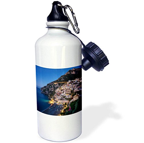 3dRose Danita Delimont - Italy - Morning twilight over Positano along the Amalfi Coast, Campania, Italy - 21 oz Sports Water Bottle (wb_277545_1) by 3dRose