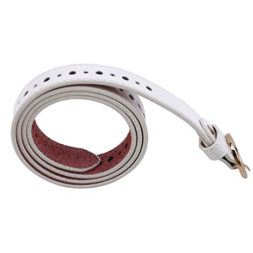 - GUAngqi Women Hollow Retro Square Pin Buckle Simple Fashion Casual Vintage Buttons Belt,White Round Buckle