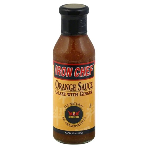 Iron Chef Orange Sauce Glaze with Ginger 15-ounce Jars (Case of - Orange Sauce Ginger