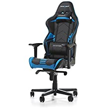 DXRacer OH/RV131/NB Racing ERGO Seat Office Chair Gaming Ergonomic with - Free Head and Lumbar Support Pillows (Black/Blue)