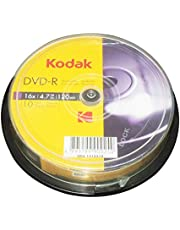 Kodak DVD-R Kodak DVD-R 4.7GB 16x Spindle 10 Pack, (580132)