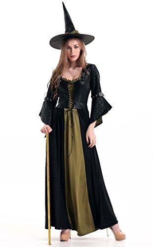 Langes Kleid Kleid Langes Hexe Kostüme Halloween WPqFnUHT