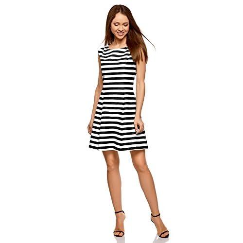 9f84d0152 oodji Ultra Mujer Vestido de Estilo Marinero  7TZYt0906888  - €18.65