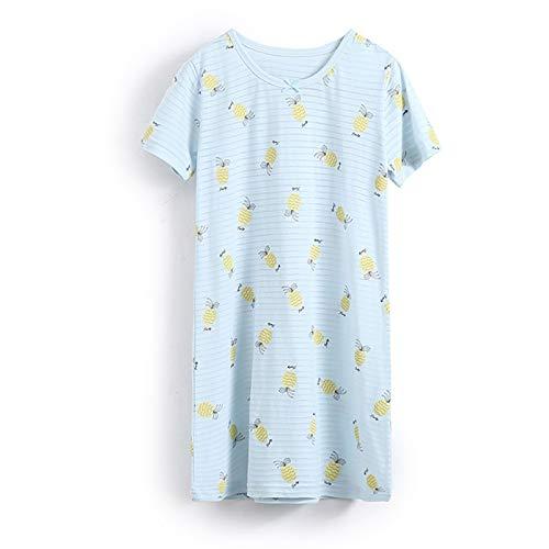 AOSKERA Preschool Girls' Short Sleeve Nightgowns Blue Nightdress