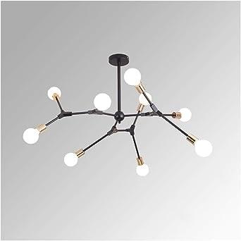 6 Light Branching Hanging Light Simple Modern White Glass Decorative Chandelier Lamp