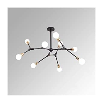 Moderne Led Simple Moléculaire Suspendus Branches Luminaires Lustres cLA5jqR34
