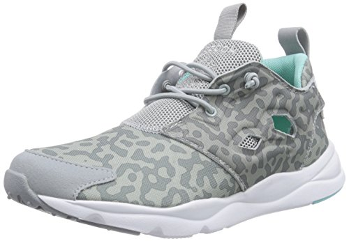 Grau Baseball White Grey Damen Blue Sneakers Crystal Reebok Flat Grey Furylite qItpU