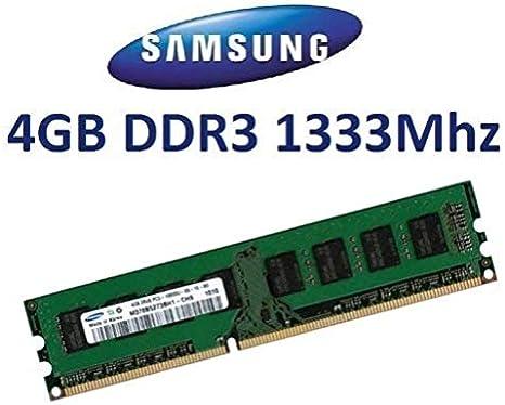 Samsung - Tarjeta de memoria de 4 GB (DDR3-1333, 1333Mhz, PC3-10600, CL9, M378B5273BH1-CH9, DDR3 + i3 i5 + + placas base Core i7)