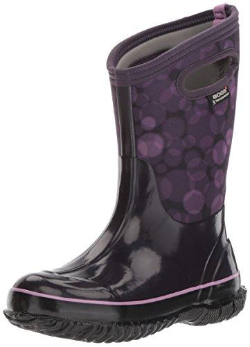 Bogs Unisex-Kids Classic Rain Snow Boot, Eggplant Multi, 7 M US Little Kid