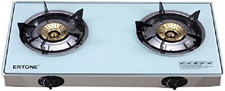 ertone Hornillo de gas/Gas Horno, 2 focos, cristal placa + ...