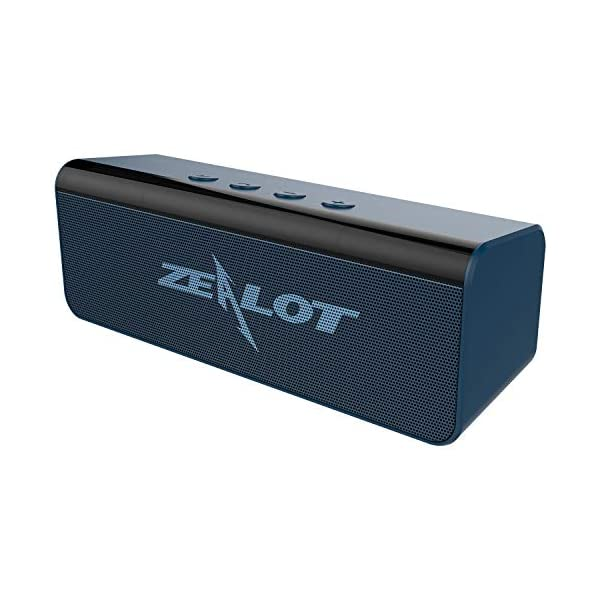 Enceinte Bluetooth, Mini Haut-Parleur Bluetooth Enceinte Portable 5.0 sans Fil, 10 Heures Autonomie Stéréo HD, Mains Libres Téléphone, Support AUX&TF, Gris Bleu 1