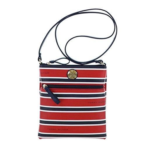 Tommy Hillfiger Cross Body Shoulder Bag Navy Red White Stripe