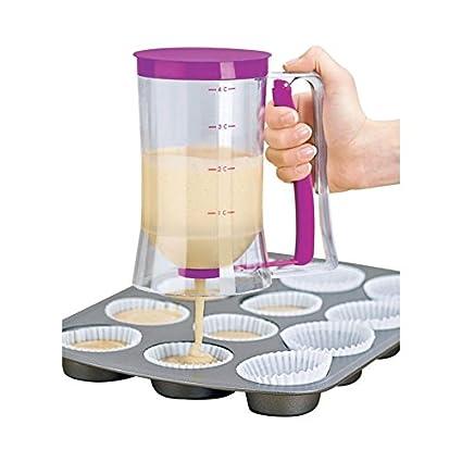 TSHOP Dosificador para Tartas Crema Cupcake Cake Design dispensador Cocina Molde Magdalenas