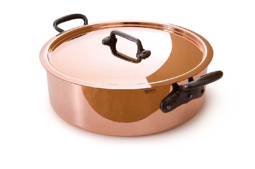 Mauviel Made In France M'Heritage Copper M250C 6506.02 3.4-Quart Saute Pan with Lid and Cast-Iron Handles ()